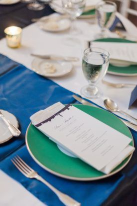 Washington DC Skyline Menu Cards | City Tavern Club, DC Wedding | Megan Chase Photography