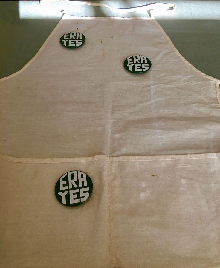 Women wore these buttons when they campaigned for the Equal Rights Amendment.
