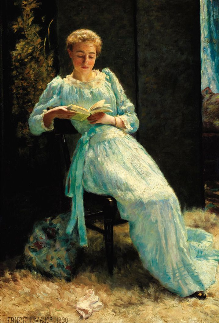 A Moment Of Leisure 1890 Ernest Lee Major American 1864 1950
