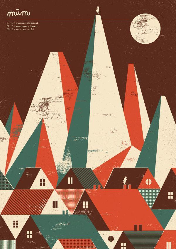 múm   poster by Dawid Ryski, via Behance
