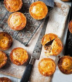 Savoury mince pies: We both remember eating little pies like these as kids – very plain but tasty, with nice flaky pastry. They make an ideal family supper.