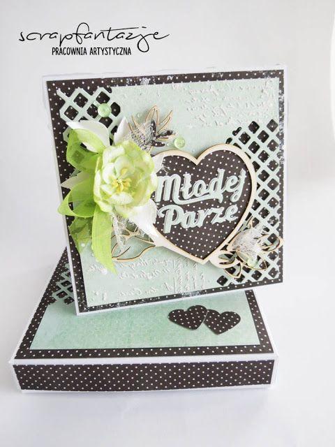 scrapfantazje, kartka na ślub