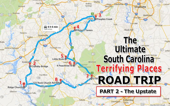 Here's The Ultimate Upstate South Carolina Terrifying Road Trip And It'll Haunt Your Dreams