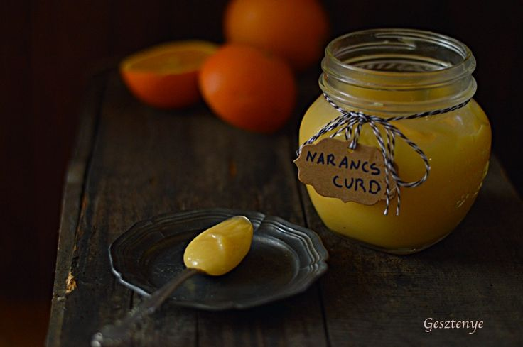 Gesztenye receptjei: Narancs curd