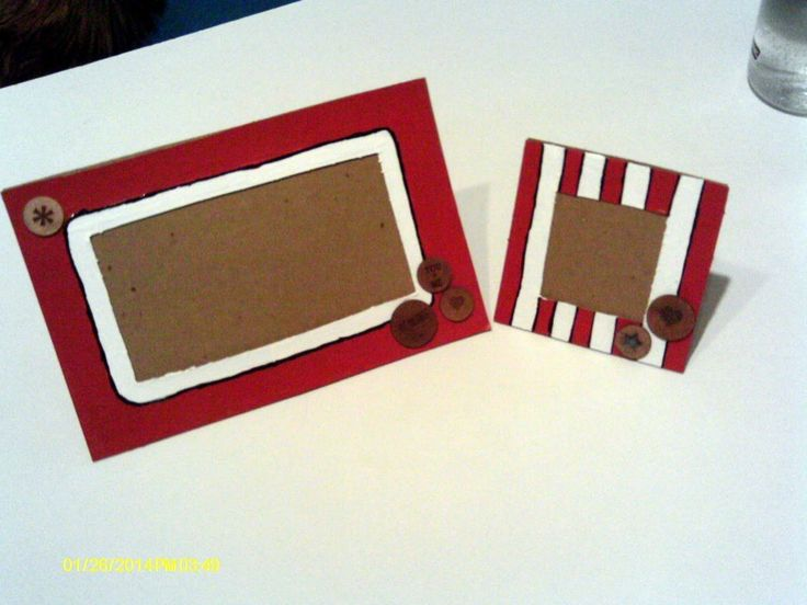 Diy Cardboard Picture Frames  #howto #tutorial