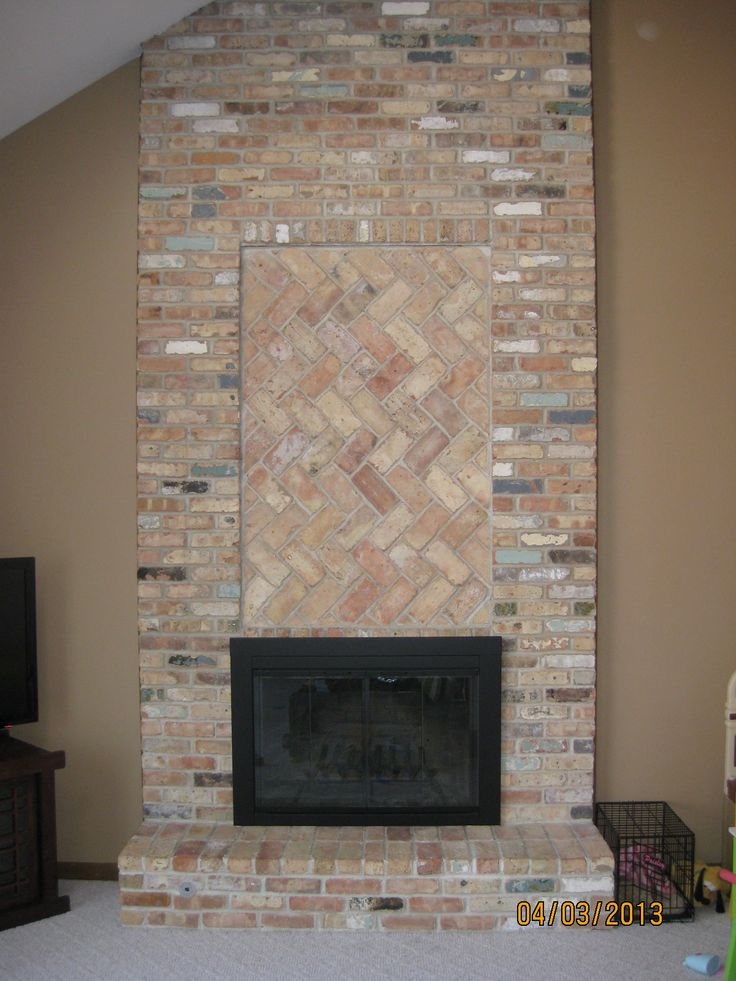 Brick fireplaces without mantels google search fireplaces pinterest bricks mantels and - Brick fireplace surrounds ideas ...