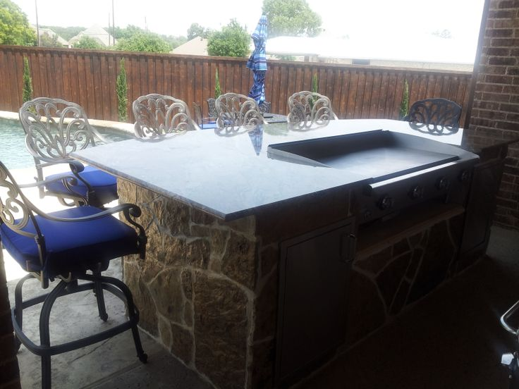 Counter Height Hibachi Grill Outdoor Kitchen