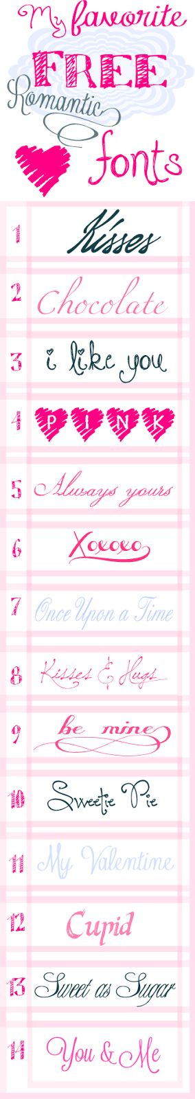 14 Valentine's Day Fonts