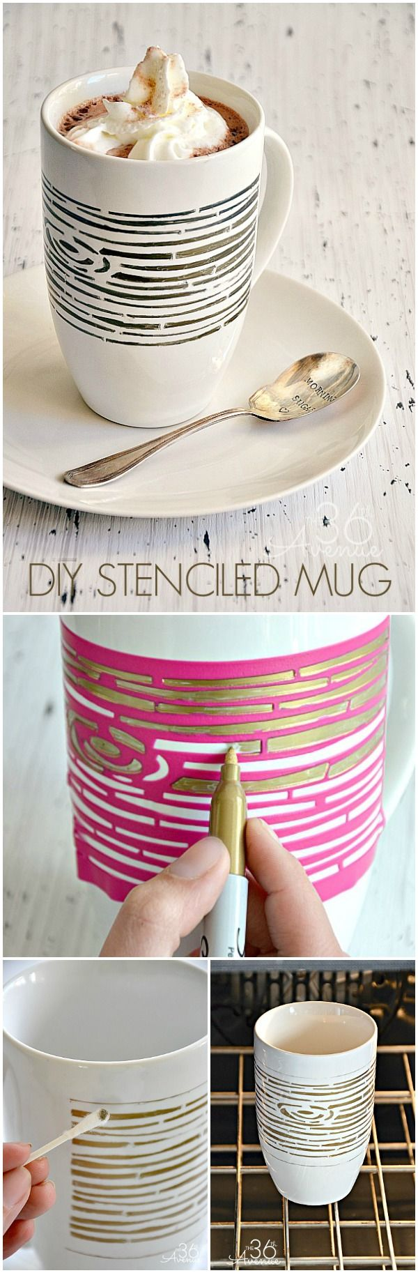 DIY Wood Grain Mug Tutorial... So easy to make! #craft #diy #gifts
