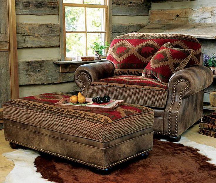 Suburban Men ** T Log cabin furniture, Cabin furniture