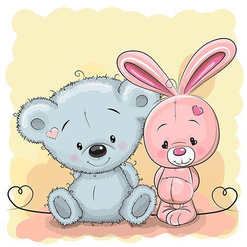 Детские картинки с милыми животными (24 шт.) + исходники   Скрапинка - дополнительные материалы для распечатки для скрапбукинга