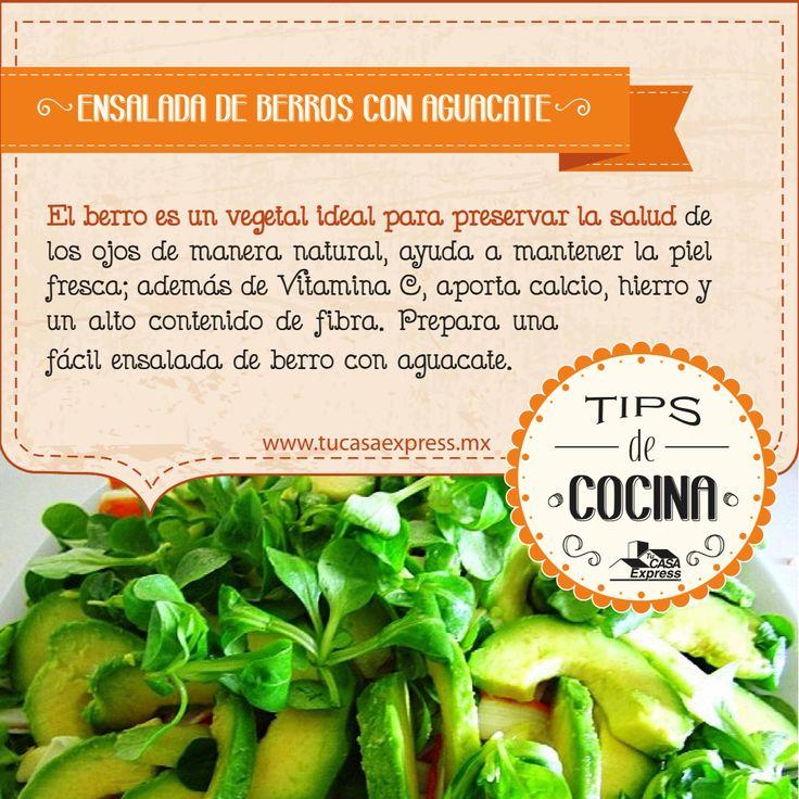 #TipsExpress para tu salud. Prepara esta rica ensalada de berro, ¡mira todos sus beneficios!