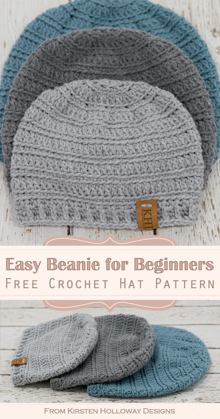 Unlimited Quick Easy Crochet Hat Pattern For Men Kids And Baby 4 Sizes Easy Crochet Hat Patterns Crochet Hats Free Pattern Easy Crochet Hat