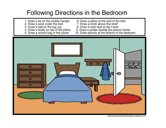 40 best following directions images on pinterest speech language therapy language activities. Black Bedroom Furniture Sets. Home Design Ideas