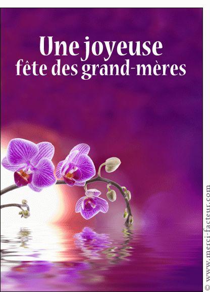 Carte Joyeuse fête des grand-mères violette pour envoyer par La Poste, sur Merci-Facteur !