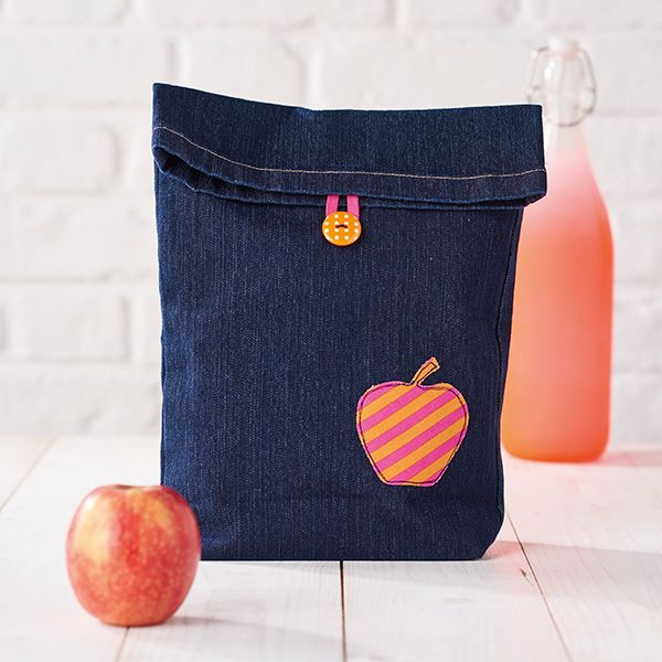 Lunch bag aus alter Jeanshose