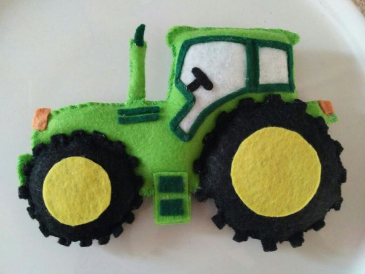 Felt tractor, soft toys