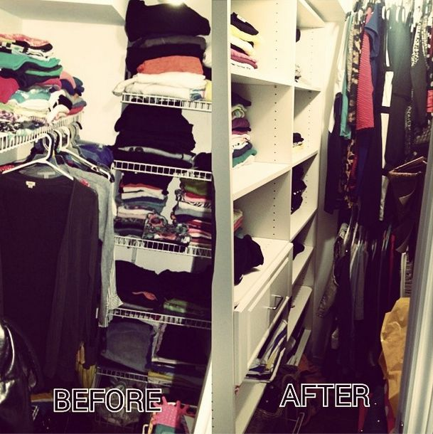 Before and after our magic touch!  #closetmaid #closetorganizers #spacious #dreamcloset #customclosets #love #organization #toronto