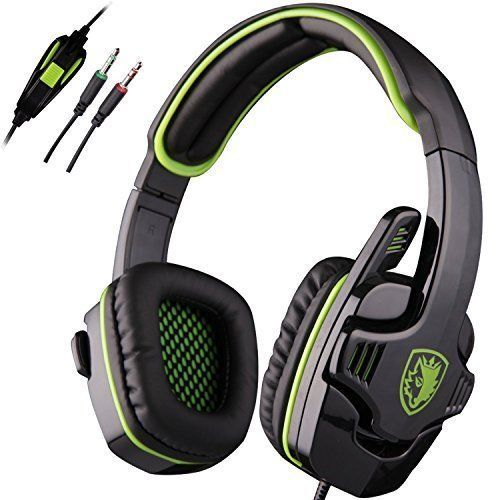 Wired Gaming Headset Stereo Gaming Leather Cushion Headset Microphone 3.5mm New #WiredGamingHeadset