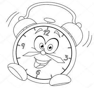 4033f16181e Desenhos de relógio para pintar