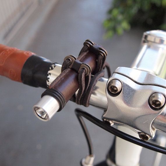 Mini bici de la luz (cuero mate)