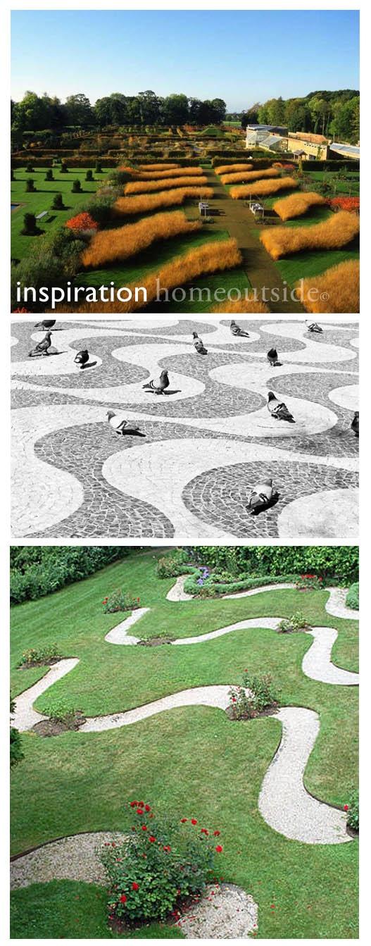 """Online landscape design """"Patterns"""" scheme: inspirational images; six different concepts"""