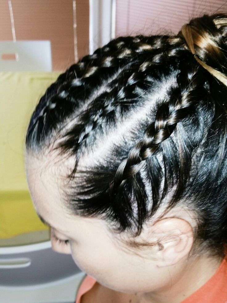 Cornrow Braids In High Ponytail