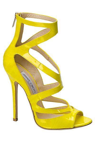 Jimmy Choo, Spring-Summer 2012 | yellow heels shoes