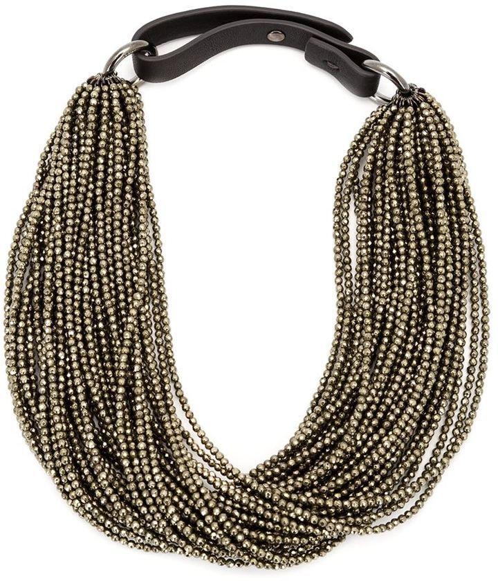 Brunello Cucinelli beaded choker necklace