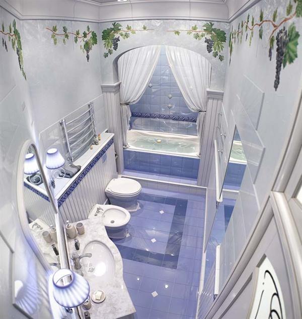 Ancient Greek Style Bathroom