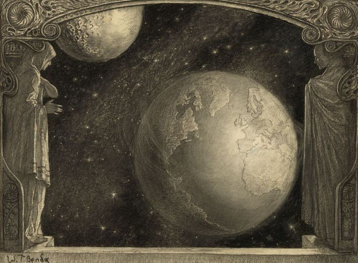 Wladyslaw T. Benda. 1918. Charcoal on paper