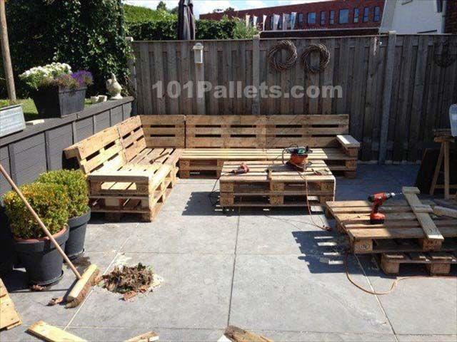 Ideal Pallet Lounge Set   101 Pallets