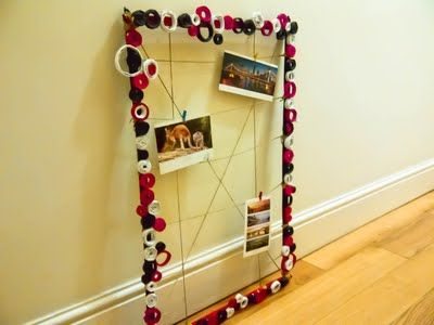 Another one of my creations. =) There's a tutorial here as well - lemme know what you think! =) #DIY #Crafts #Frames #Pictures