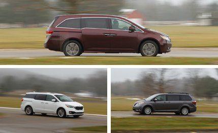2015 Honda Odyssey Elite vs. 2015 Kia Sedona SXL, 2015 Toyota Sienna Limited – Comparison Test – Car and Driver
