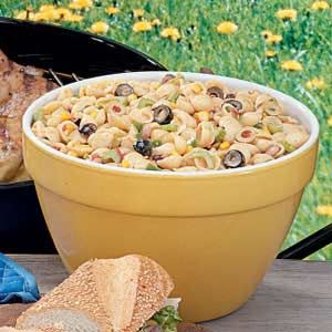 Southwestern Pasta Salad Recipe -This satisfying salad has a nice blend of textures and flavors. I appreciate its make-ahead convenience when I'm entertaining. —Ann Brown, Bolivar, Missouri