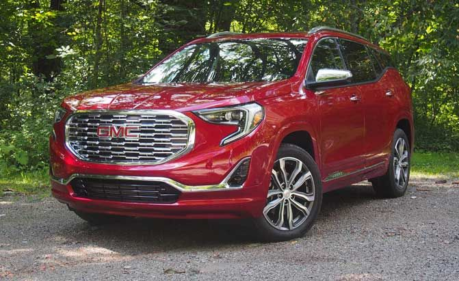 2018 GMC Terrain Review :  The GMC Terrain is all new for 2018 and its well equipped for battle in the cutthroat compact crossover segment.  FAST FACTS  Engine: 2.0L turbo 4-cylinder  Output: 252 hp 260 lb-ft torque  Transmission: 9-speed automatic  U.S. Fuel Economy (MPG): 21 city 26 hwy 23 combined  CAN Fuel Economy (L/100 km): 11.2 city 9.0 hwy 10.2 combined  US Price: Starts at $25970/$44450 as tested  CAN Price: Starts at $32690  (all prices include destination fees)  To uncover its…