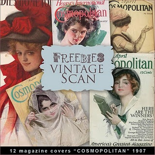 all sorts of vintage art that you can download for free. Everything from Victorian fashion illustrations to nineteen forties pinup advertisements