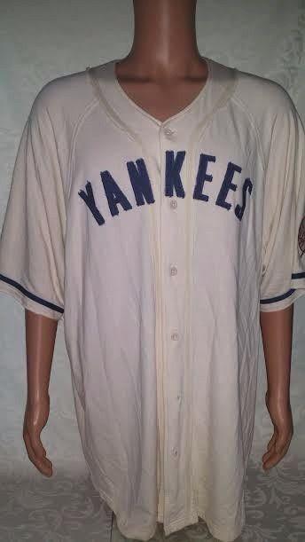 New York Yankees Sewn Throwback Jersey TEAM NIKE XL MLB Merchandise COOL! #TeamNike #NewYorkYankees