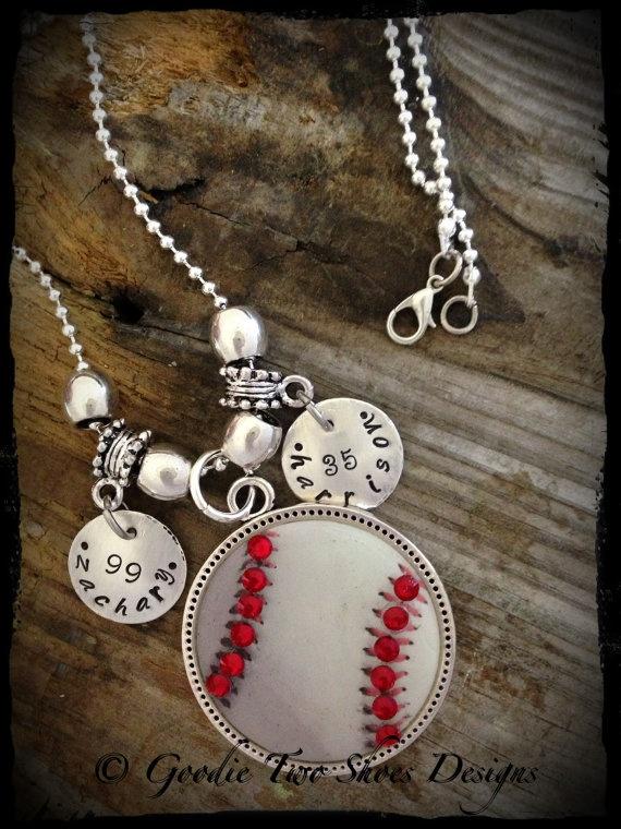 Rhinestone Baseball Mom Necklace, Baseball, Baseball Mom, Mommy Brag Jewelry