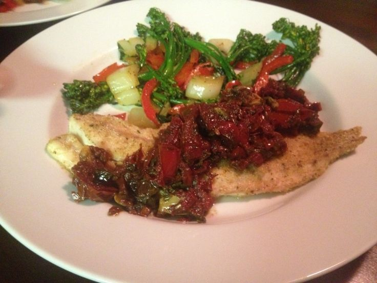 Baked Redfish Recipe with Roasted Tomato Sauce