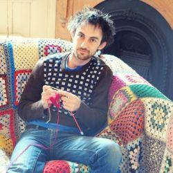 I'm a man and I knit.     Um, my boyfriend? Haha