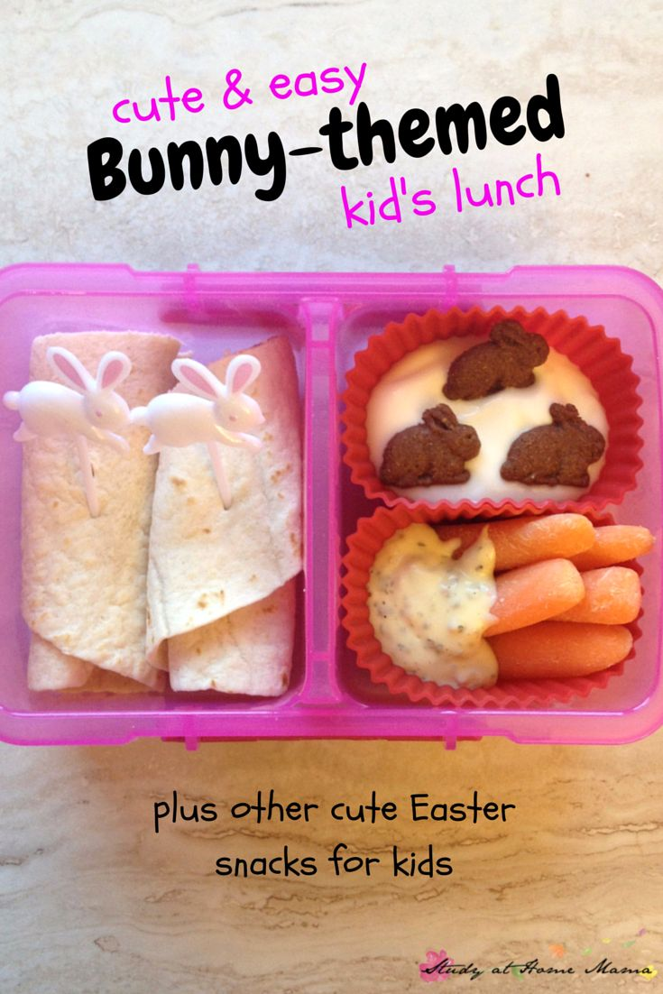 Cute & Easy Bunny-Themed Lunch for Kids ⋆ Study at Home Mama