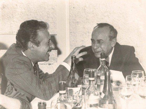 Leonardo Sciascia (right) with judge Paolo Borsellino