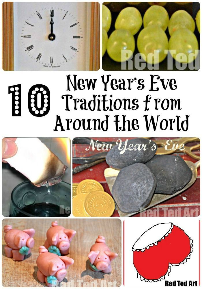 New Year's Eve Traditions from around the world - a fun way to learn about other countries and traditions. What do YOU do for New year's eve? Have you got a family tradition? From red pants to 12 grapes and good luck piggies. What will you be doing? #IdeasforNewYearsEve #NewYears #Newyearsevetraditions