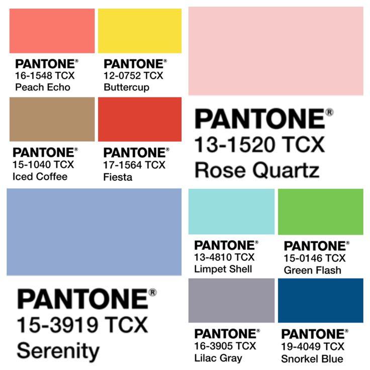 Fashion's Spring 2016 Pantone Color Trends.