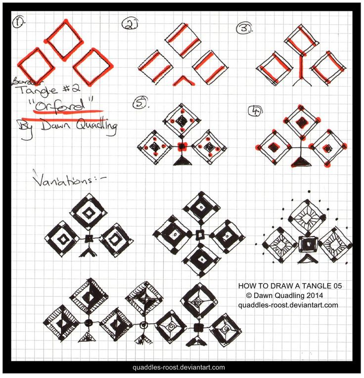 How to Draw Tangle 02 Orford quaddles-roost by Quaddles-Roost.deviantart.com on @deviantART
