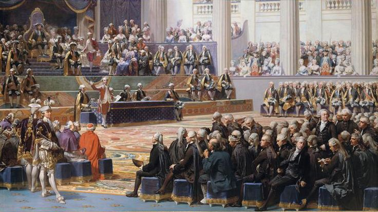 Painting by Auguste Couder showing the opening of the Estates-General Source: Wikipedia (public domain)