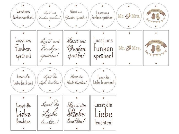 Wunderkerzen-Etiketten