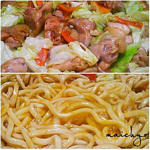 岐阜県の郷土料理の鶏ちゃん(ケイちゃん)というお料理です(因みに私は生まれも育ちも根っからの千葉県人ですw) 味噌ダレを鶏肉に漬け込んで、野菜と共に炒めます。…