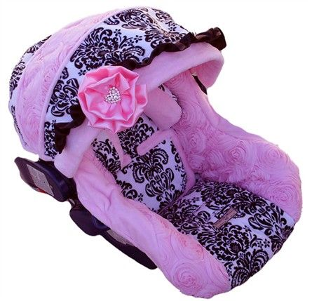 Adorable Car Seat Cover So Girly Color Pink